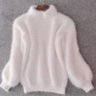 1182.72 руб. 40% СКИДКА|2018 новый зимний высоким воротником пуловер мохерового свитера водолазка женская пуловер теплый толстый свободные фонарь рукав свитер женский-in Пуловеры from Женская одежда on Aliexpress.com | Alibaba Group