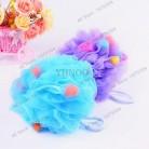 1 шт., разноцветные шаровые ванночки для ванной, скруббер, сетка для душа, Нейлоновая губка для душа, аксессуары для ванной, насыщенные пузырь...