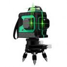 12 линий 3D зеленый луч 360 самонивелирующийся лазерный измеритель уровня горизонтальный и вертикальный 1x360 Регулируемый адаптер для лазерног...