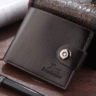 Fashion Men's Solid Color Long Leather Retro Vintage Style Card Holder Wallet Fashion Men's Solid Color Long Leather Retro #20