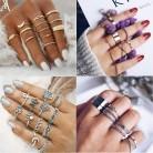 € 1.37 22% de DESCUENTO|AY encanto Vintage Midi dedo anillo Conjunto para las mujeres Boho cristal ala anillos pequeño regalo de la joyería 12 unid/set color oro en Anillos de Joyería y accesorios en AliExpress.com | Alibaba Group