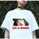 515.08руб. 29% СКИДКА|Пародия Harajuku белая женская футболка 2017 T летняя новинка футболка Femme Life is Boring буквенный принт Женская футболка-in Футболки from Женская одежда on AliExpress - 11.11_Double 11_Singles' Day