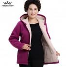 1168.1 руб. 51% СКИДКА|Осенняя флисовая верхняя одежда среднего возраста 2019 плюс размер 5XL тонкая женская куртка с капюшоном однотонная теплая Повседневная короткая зимняя куртка пальто купить на AliExpress
