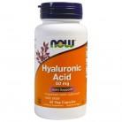 Now Foods, Гиалуроновая кислота, 50 мг, 60 вегетарианских капсул