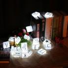 € 10.79 8% de DESCUENTO|Original DIY carta LED colgante luces 2 colores LED noche lámpara 26 cartas partes fiestas decoración creativa regalo en LED Luces de La Noche de Luces e iluminación en AliExpress.com | Alibaba Group