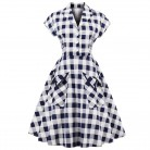 US $17.87 49% OFF|Joineles 60s Audrey Hepburn Vintage Dress Plus Size 4XL Plaid Print Women Party Dress Elegant Swing Rockabilly Feminino Vestidos-in Dresses from Women's Clothing on Aliexpress.com | Alibaba Group