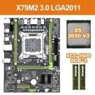 X79 M2 3,0 LGA2011 материнская плата Поддержка NVME M.2 SSD SATA3.0 SATA2.0 USB3.0 с E5 2650V2 Процессор 2x8G 1600 ECC память