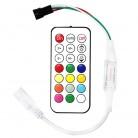 WS2812B WS2811 Светодиодные ленты 21 Ключи РФ контроллер Магия RGB свет контроллер с дистанционным мини для SMD 5050 5630 Светодиодные ленты Лампа купить на AliExpress