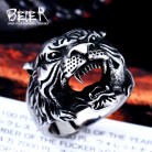 Beier new store 316L Stainless Steel ring top quality animal biker ring tiger Fashion Jewelry  BR8 307-in Rings from Jewelry & Accessories on AliExpress
