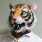 1168.3 руб. 6% СКИДКА|Маска тигра вечерние высокого качества Хэллоуин партия латексная Реалистичная маска тигра полная голова для взрослых (маска животного с плюшевой)-in Маски для вечеринки from Дом и сад on Aliexpress.com | Alibaba Group