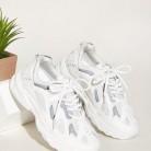 Кроссовки на шнуровке со сеткой