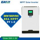 Источник питания Easun 500Vdc солнечный инвертор 3000 Вт 24 В 220 В 80A MPPT 4000 Вт PV Чистая синусоида Инвертор 3Kva 50 Гц от сетки инвертор Зарядное устройство купить на AliExpress