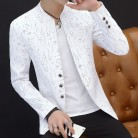 US $11.58 |HO 2019 Men 's casual collar collar suit youth handsome trend Slim print suit-in Blazers from Men's Clothing on Aliexpress.com | Alibaba Group