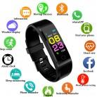 Zapet novo relógio inteligente das mulheres dos homens monitor de freqüência cardíaca pressão arterial fitness rastreador smartwatch esporte relógio para ios android + caixa