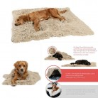 Pets Winter Warm Fluffy Fleece Pet Blankets Dog Cat Sleeping Bed Mats Wear-resistant Double Layer Warm Soft Plush Mattress Rug
