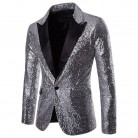 US $25.04 |NEW Men's  Sequins Clubs Wedding Party Tuxedo Dinner Formal Long Sleeve Single Button Suit Jacket Coat-in Blazers from Men's Clothing on Aliexpress.com | Alibaba Group