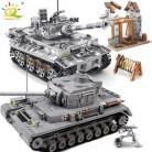 1154 шт военные серии Большой панзер Танк строительные блоки лего танк армии город просветить Кирпичи игрушки для детей