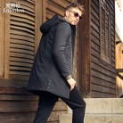 US $49.35 53% OFF|Enjeolon Brand Winter Thick Long Jacket Coat Men Long Coat Hoodies Men Jcaket Long Parka Jacket men warm 3XL Coat Men MF0624-in Parkas from Men's Clothing on Aliexpress.com | Alibaba Group