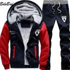1591.99 руб. 41% СКИДКА|BOLUBAO повседневное мужские спортивный костюм зимний комплект из двух предметов наборы для ухода за кожей полиэфирный флис толстая куртка с ш купить на AliExpress