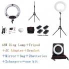 Yidoblo белый FS 480II Pro теплый и холодный Регулируемый красота салон макияж светодио дный светодиодные кольца светодио дный свет лампы м + 2 м стоя сумка батарея купить на AliExpress