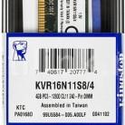 Купить Модуль памяти KINGSTON VALUERAM KVR16N11S8/4 DDR3 -  4Гб в интернет-магазине СИТИЛИНК, цена на Модуль памяти KINGSTON VALUERAM KVR16N11S8/4 DDR3 -  4Гб (356492) - Москва