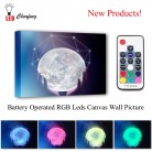 US $25.49 49% OFF|Colorful RGB Leds Canvas Wall Decor hands with moon Picture Remote control Canvas Printing Illuminated painting for kids Gift-in Painting & Calligraphy from Home & Garden on Aliexpress.com | Alibaba Group