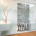 US $8.91 20% OFF|you'll never walk alone inspirational quotes wall stickers room decoration home decals vinyl art liverpool team song lyrics-in Wall Stickers from Home & Garden on AliExpress