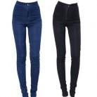 Женские узкие брюки, узкие брюки с высокой талией, обтягивающие эластичные джинсы большого размера, 2019