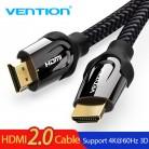 149.8 руб. 20% СКИДКА|Vention Кабель HDMI к HDMI кабель 4 K HDMI 2,0 3D 60FPS кабель для сплиттера ТВ ЖК дисплея ноутбука PS3 проектор компьютерный кабель-in Кабели HDMI from Бытовая электроника on Aliexpress.com | Alibaba Group