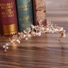 Золото барокко горный хрусталь Розовый Кристалл бусы невесты корона тиара свадебная диадема головной убор невесты аксессуары для волос юв...