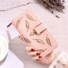 US $3.73 25% OFF|New Women Wallet Purse Female Long Gold Hollow Leaves Wallets Women Pouch Handbag For Women 2019 Purse Card Holders-in Wallets from Luggage & Bags on Aliexpress.com | Alibaba Group