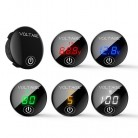 DC 5V-48V LED Panel Digital Voltage Meter Car Motorcycle Battery Capacity Display Voltmeter with Touch ON/OFF Switch