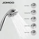 542.88 руб. 44% СКИДКА|Ручной душ душевая лейка насадака JOMOO Хром Высокое качество 5 режимом ABS пластик хром JOMOO№S02015  купить на AliExpress