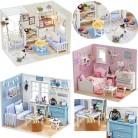 663.96 руб. 42% СКИДКА|Кукольный дом мебель DIY Миниатюрная модель пылезащитный чехол 3D Деревянный кукольный домик рождественские подарки игрушки для детей дневник котенка H013 # E-in Кукольные дома from Игрушки и хобби on Aliexpress.com | Alibaba Group