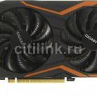 Видеокарта GIGABYTE nVidia  GeForce GTX 1050TI ,  GV-N105TG1 GAMING-4GD