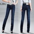 1864.95 руб. 15% СКИДКА|2016 весенние и летние женские джинсовые брюки со средней талией маленькие прямые эластичные джинсы плюс размер джинсовые брюки Бесплатная доставка-in Джинсы from Женская одежда on Aliexpress.com | Alibaba Group