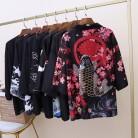 467.08 руб. 54% СКИДКА|Кимоно Кардиган Блузка хараджуку рубашка Летняя Пляжная верхняя одежда свободные кимоно женские 2019 косплей женские японские кимоно повседневные топы-in Блузки и рубашки from Женская одежда on Aliexpress.com | Alibaba Group