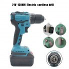 18-21V 80-150Nm Cordless Brushless Electric Impact Drill Torque Screwdriver Tool Cordless Drill+Charger+Lithium-Ion Battery
