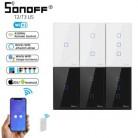 Интеллектуальный выключатель света SONOFF T2/T3 нам 1/2/3 Wifi переключатель сенсорной панели свет розетки 433 МГц RF Беспроводной дистанционного Упра...
