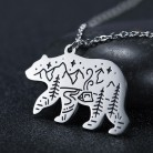 Lemegeton Polar Bear Wolf Fox Rabbit Necklace Men Women Eagles Bird Animal Camping Outdoor Travel Necklaces Jewelry