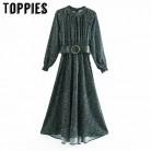 1362.88руб. 30% СКИДКА|Дамское элегантное вечернее платье с поясом зимнее платье макси с длинным рукавом женское ТРАПЕЦИЕВИДНОЕ ПЛАТЬЕ с круглым вырезом on AliExpress - 11.11_Double 11_Singles' Day