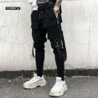 2225.12 руб. 18% СКИДКА|Для мужчин с карманами и эластичной резинкой на талии дизайн шаровары уличный панк хип хоп повседневные брюки Джоггеры мужские брюки для танцев купить на AliExpress