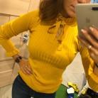 708.06 руб. 41% СКИДКА|Повседневный тонкий свитер для женщин, осень 2018, вязаный пуловер со шнуровкой, длинный рукав клеш, вязаный пуловер с рюшами, зимний женский свитер-in Пуловеры from Женская одежда on Aliexpress.com | Alibaba Group