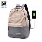 1057.09 руб. 47% СКИДКА|Большой емкости холщовый рюкзак с зарядкой женские рюкзаки для школы школьный модный рюкзак для ноутбука рюкзак для мужчин-in Рюкзаки from Багаж и сумки on Aliexpress.com | Alibaba Group