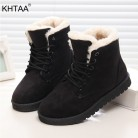 US $15.04 20% OFF|Women Winter Snow Boots Warm Flat Plus Size Platform Lace Up Ladies Women's Shoes 2019 New Flock Fur Suede Ankle Boots Female-in Ankle Boots from Shoes on Aliexpress.com | Alibaba Group