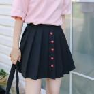 1039.43 руб. 15% СКИДКА|Новинка 2019 года, милые однобортные мини плиссированные женские юбки с высокой талией, трапециевидная короткая юбка, повседневная короткая юбка-in Юбки from Женская одежда on Aliexpress.com | Alibaba Group