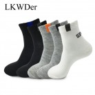 LKWDer 5 Pairs/lot Spring Autumn Men's Long Tube Cotton Socks Men Sweat absorbent Casual Deodorant Sports Socks Meias Wholesale on AliExpress