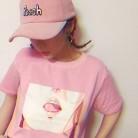 441.55 руб. 10% СКИДКА|2016 корейский стиль повседневное свободное повседневное базовое универсальная розовая Женская футболка с короткими рукавами-in Футболки from Женская одежда on Aliexpress.com | Alibaba Group