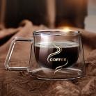 Офис прозрачно грамм кружки стеклянные Термостойкого Боросиликатного теплоизоляция двойной кружка для кофе чашки кофе купить на AliExpress