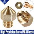 Mellow высокая точность 3D части принтера латунные Mk8 насадки для Ender 3 Cr10 Tarantula Micro Swiss Hotend Brass Mk8 сопло